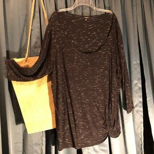 torrid Speckled Knotted Tee